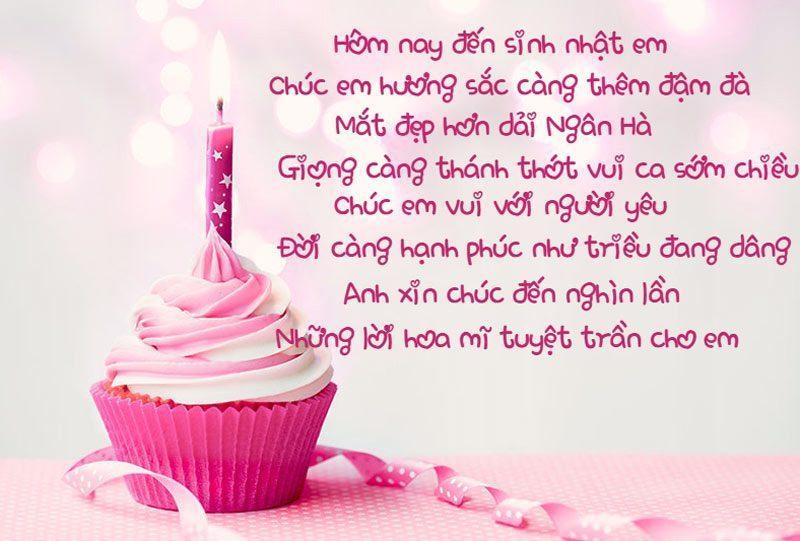 Bài thơ chúc sinh nhật khơi nguồn tình yêu