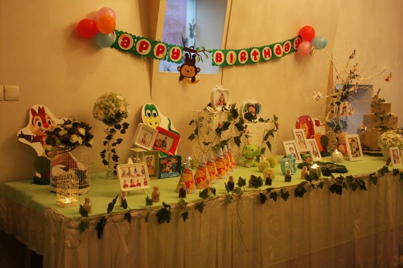 bàn tiệc sinh nhật bé trai