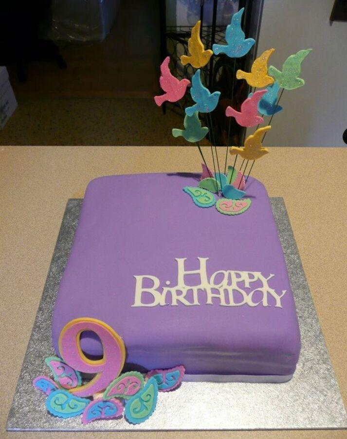 Bánh sinh nhật 9 tuổi dành cho bé