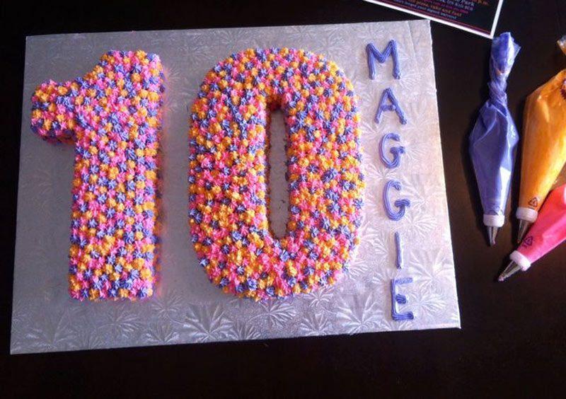 Bánh sinh nhật dễ thương cho bé 10 tuổi
