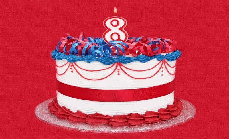 Bánh sinh nhật dễ thương dành cho bé 8 tuổi
