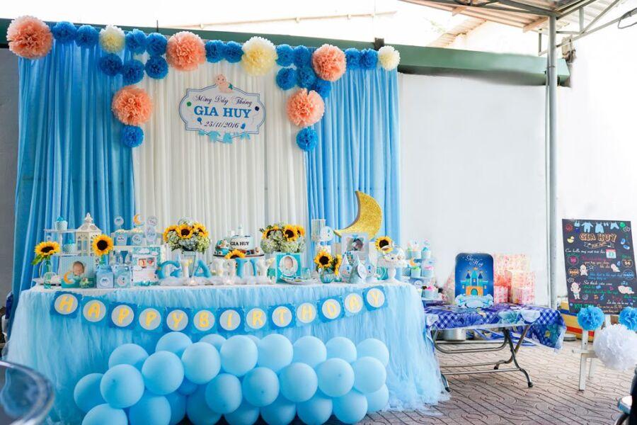 Chọn không gian để trang trí sinh nhật cho bé trai