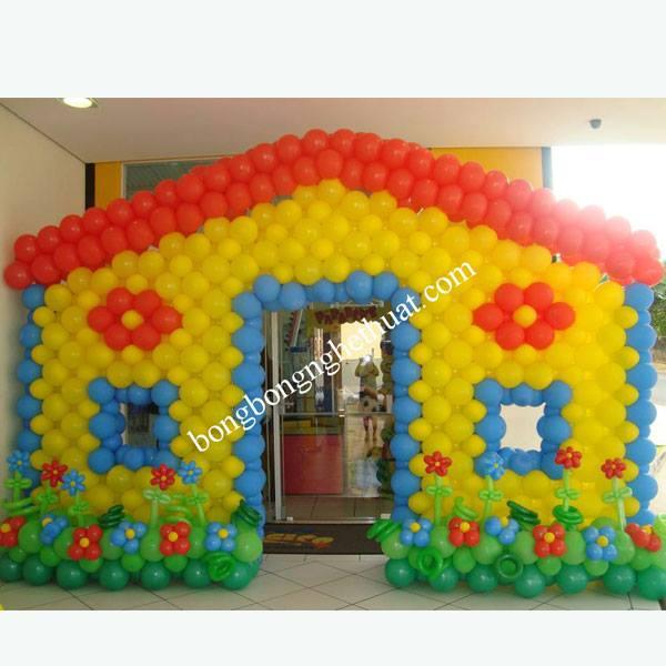 cổng bong bóng sinh nhật bé trai