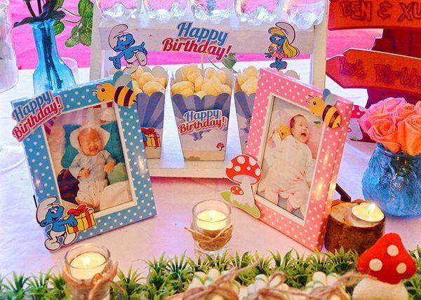 khung hình trang trí bàn tiệc