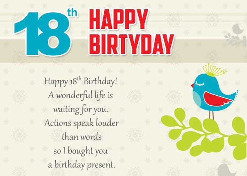 Lời chúc dành cho chàng trai trong lần sinh nhật thứ 18