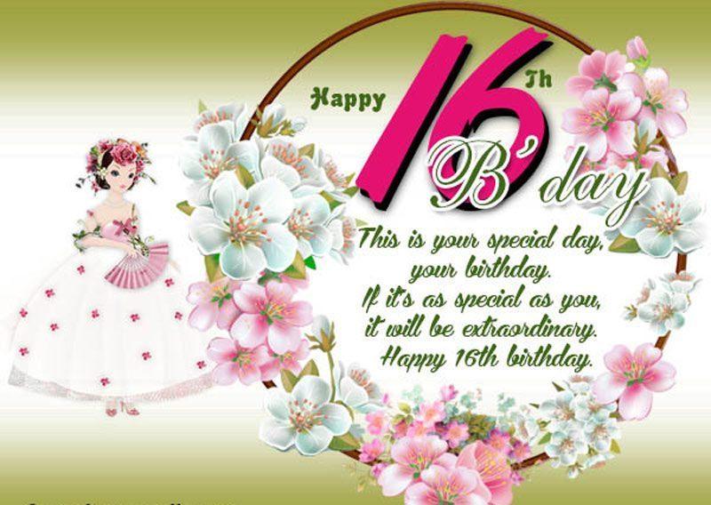 Lời chúc ngọt ngào nhất cho lần sinh nhật thứ 16