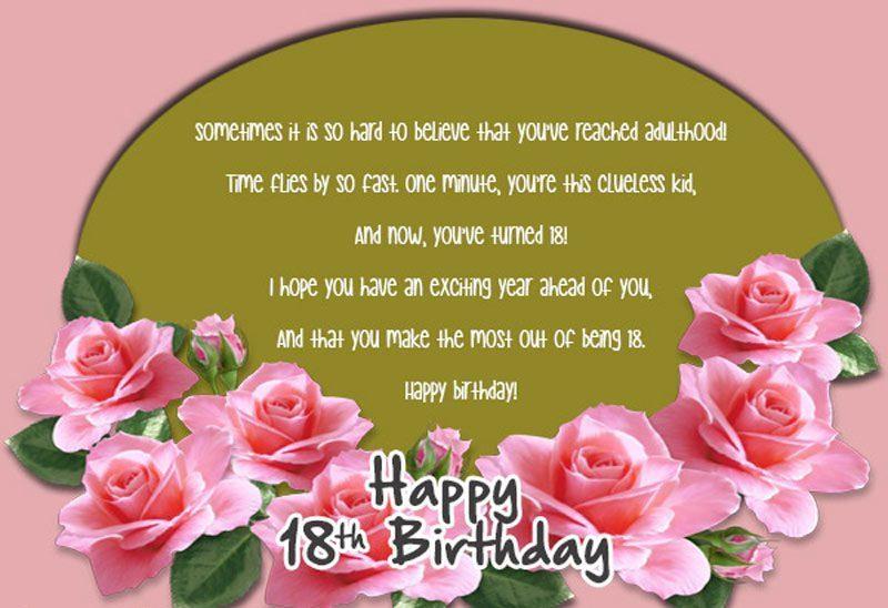 Lời chúc sinh nhật dành cho chàng trai 18 tuổi