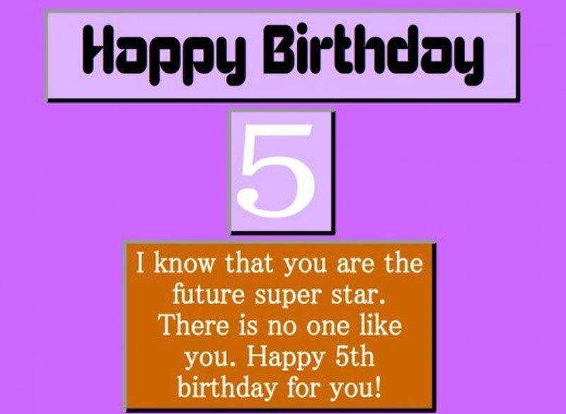 lời chúc sinh nhật hay dành cho bé 5 tuổi