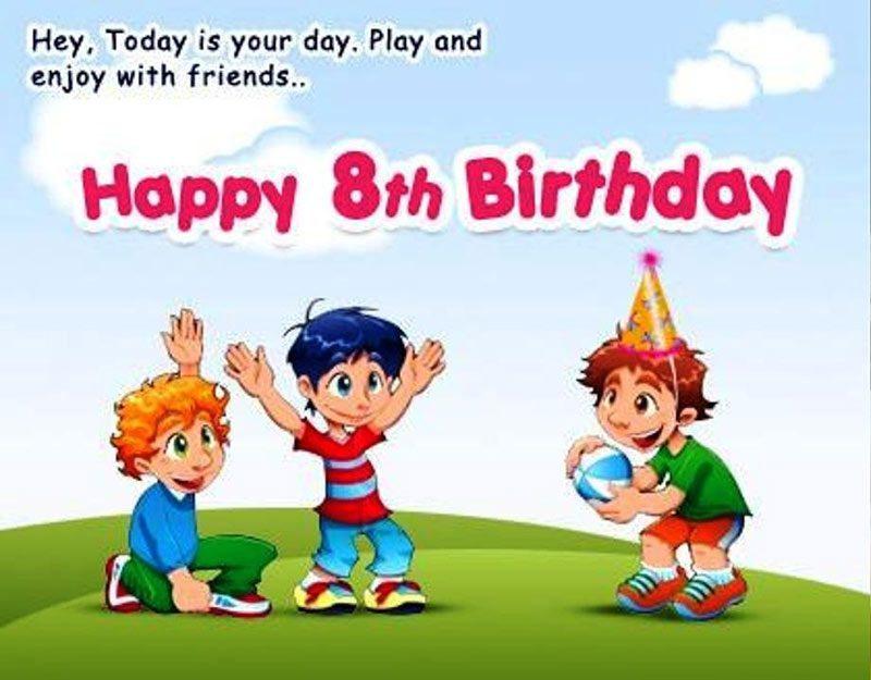 Loi chúc sinh nhật hay dành cho bé 8 tuổi