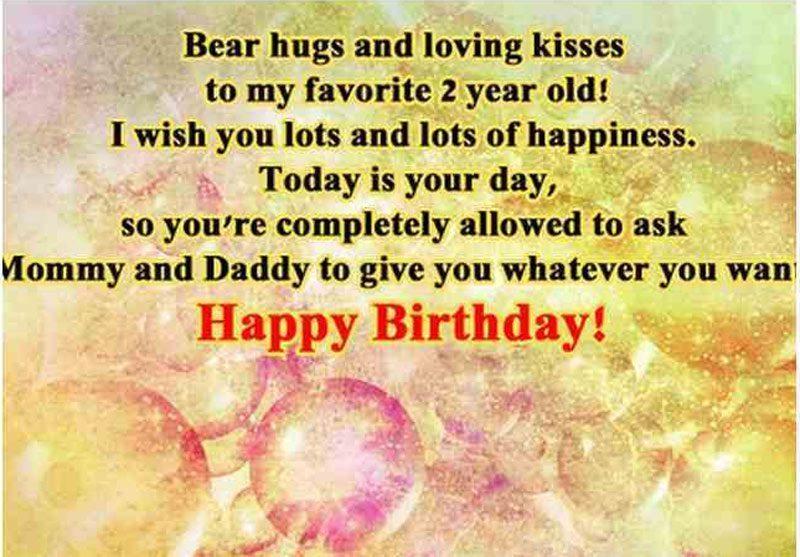Lời chúc sinh nhật hay nhất dành cho bé 2 tuổi