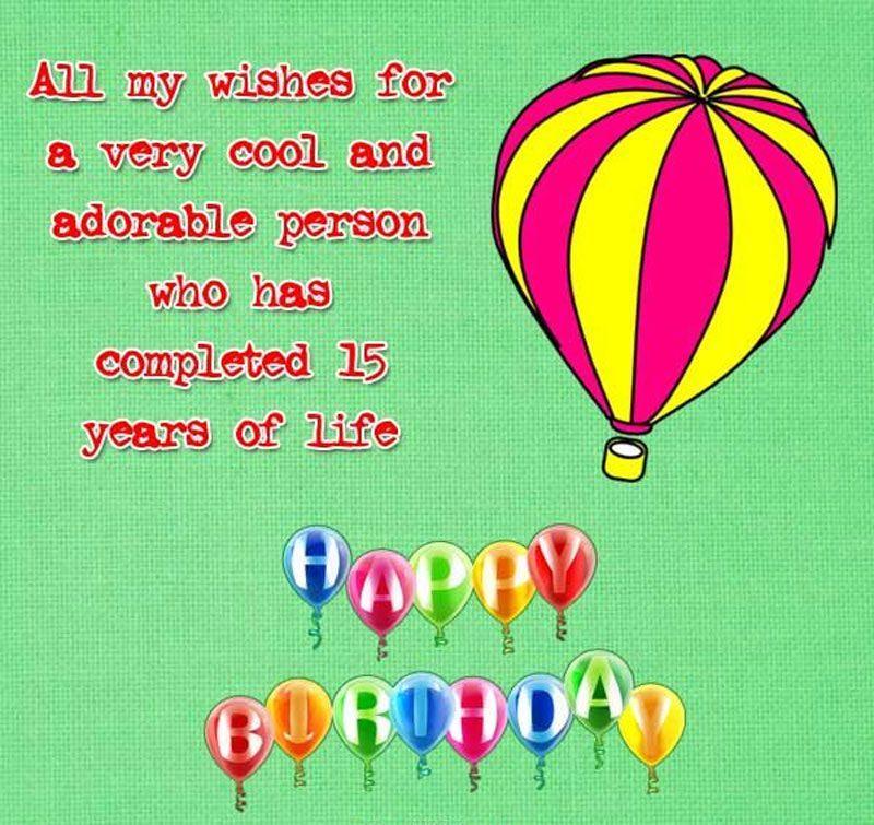 Lời chúc sinh nhật hay nhất dành cho tuổi 15