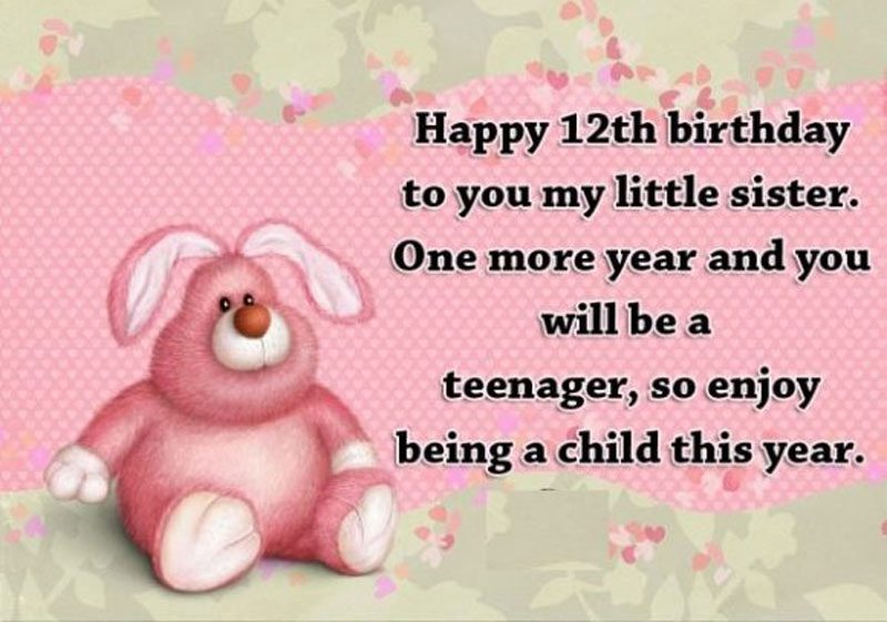 lời chúc mừng sinh nhật lần thứ 12 dẽ thương nhất