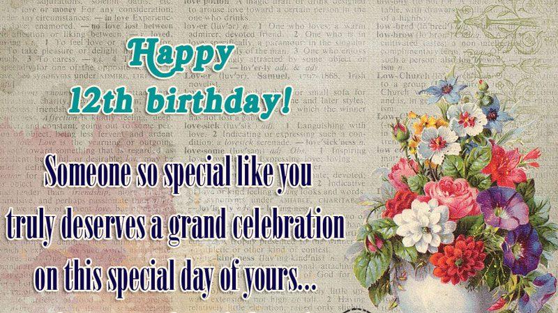lời chúc mừng sinh nhật lần thứ 12 hay nhất