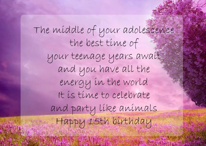 lời chúc sinh nhật lần thứ 15 ý nghĩa nhất