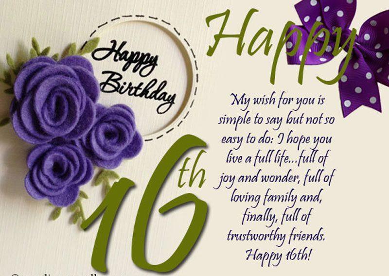 Lời chúc sinh nhật lần thứ 16 hay nhất