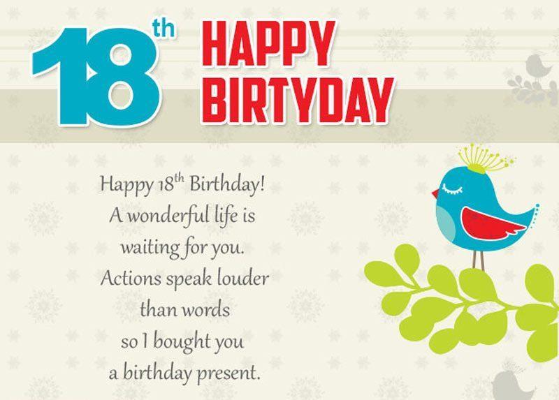 Lời chúc sinh nhật lần thứ 18 hay nhất