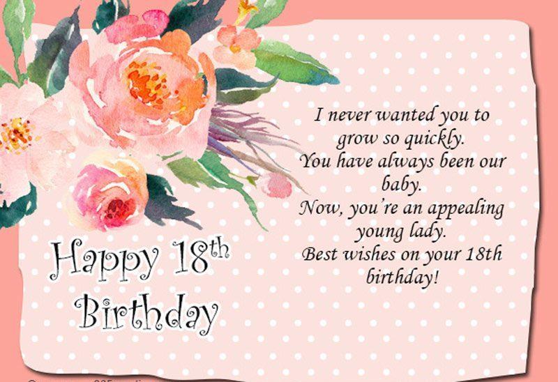 Lời chúc sinhy nhật lần thứ 18 ý nghĩa nhất