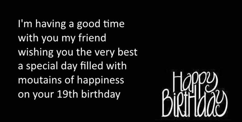 Lời chúc mừng sinh nhật nhật lần tứ 19 cho con trai