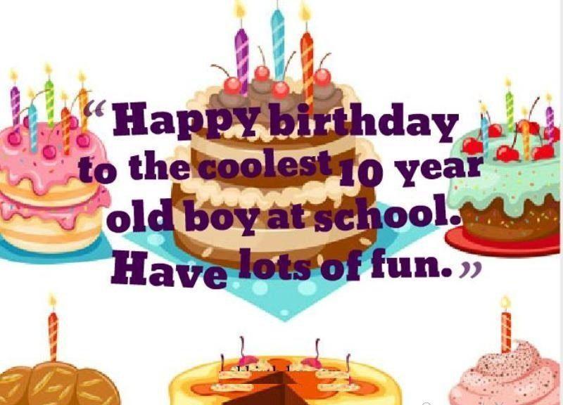 Lời chức sinh nhật ý nghĩa cho bé 10 tuổi