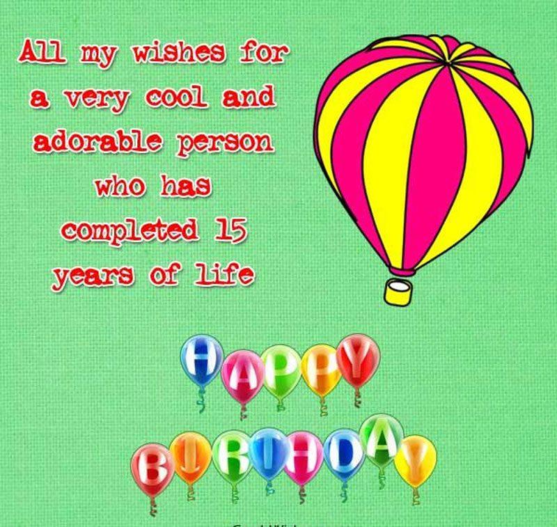lời chúc ý nghĩa cho lần sinh nhật thứ 15