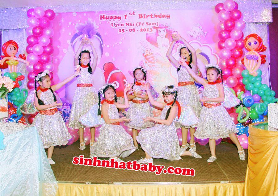 nhóm múa thiếu nhi tiệc sinh nhật