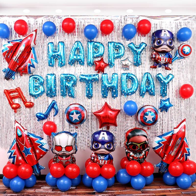 tổ chức sinh nhật cho bé trai 1 tuổi chủ đề siêu nhân