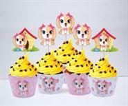 Vỏ bánh cupcake bé gái tuổi chó