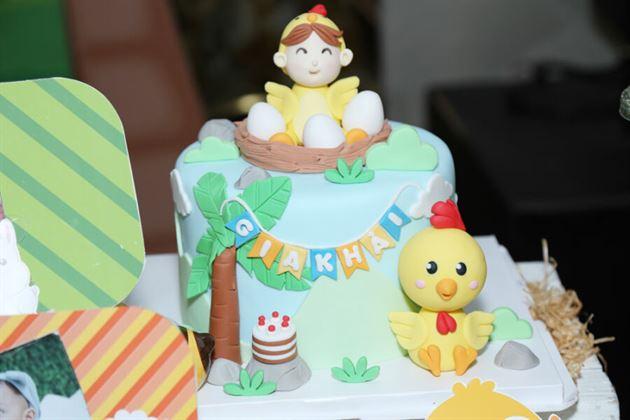 Bánh kem tạo hình gà con 3D cực dễ thương
