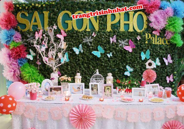 Trang Trí Bàn Lưu Niệm chủ đề Bé Gái