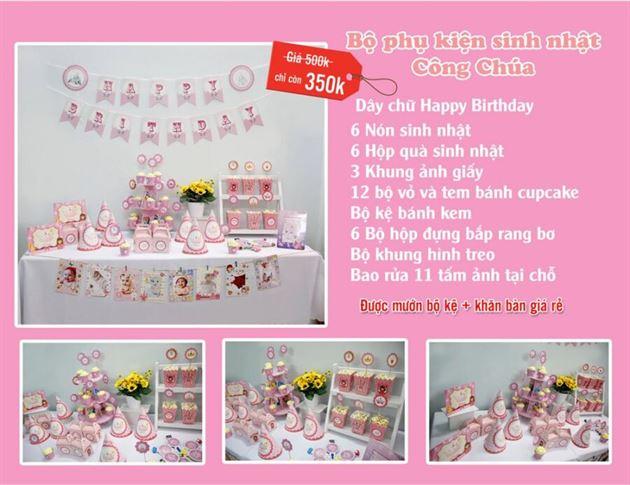 Set phụ kiện sinh nhật Công Chúa