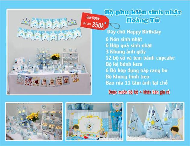 Set phụ kiện sinh nhật Hoàng Tử