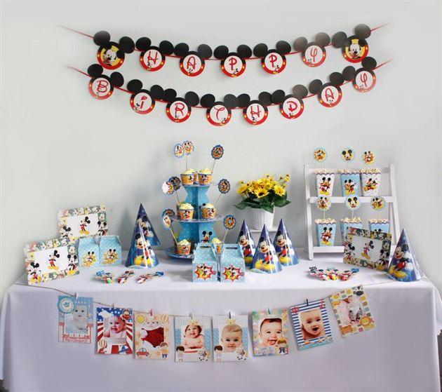Bộ phụ kiện sinh nhật cho bé Mickey