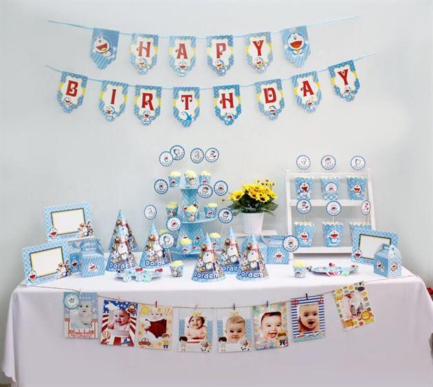 Bộ phụ kiện sinh nhật Doraemon