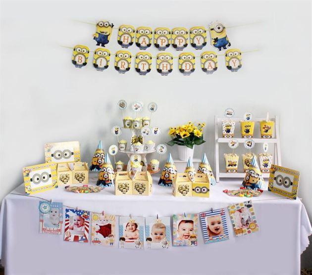Bộ phụ kiện sinh nhật cho bé Minion - Trang Trí Sinh Nhật Kool Style