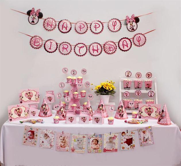 Bộ phụ kiện sinh nhật cho bé Minnie - Trang Trí Sinh Nhật Kool Style