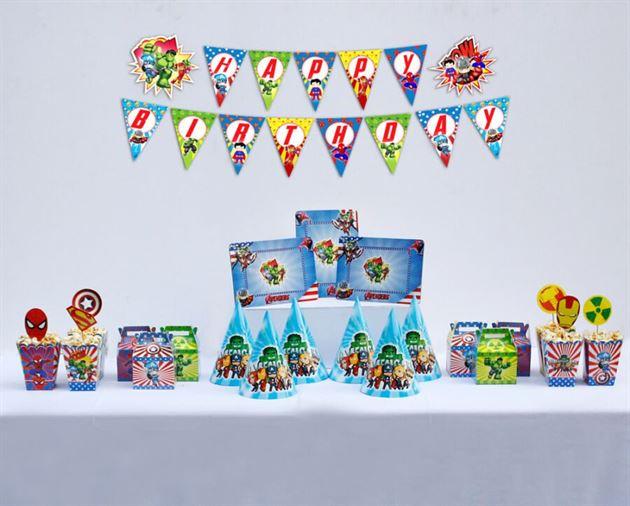 Set trang trí sinh nhật giá rẻ Avengers