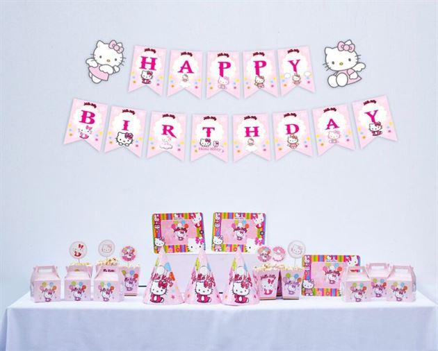 Set trang trí sinh nhật Kitty