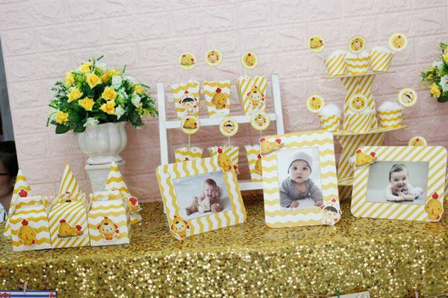 Bộ trang trí sinh nhật bé full set