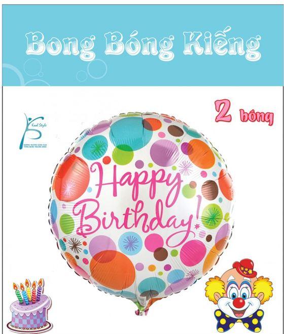 Bong Bóng Kiếng chủ đề Happy Birthday