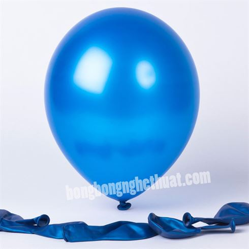 Bong Bóng Tròn Nhũ màu xanh dương