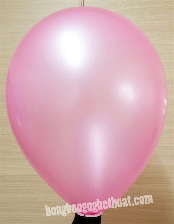 Bong Bóng Tròn Nhũ màu hồng