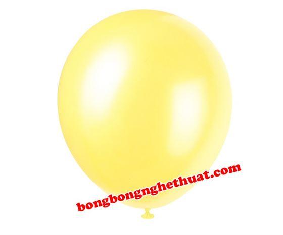 Bong Bóng Tròn Nhũ màu vàng