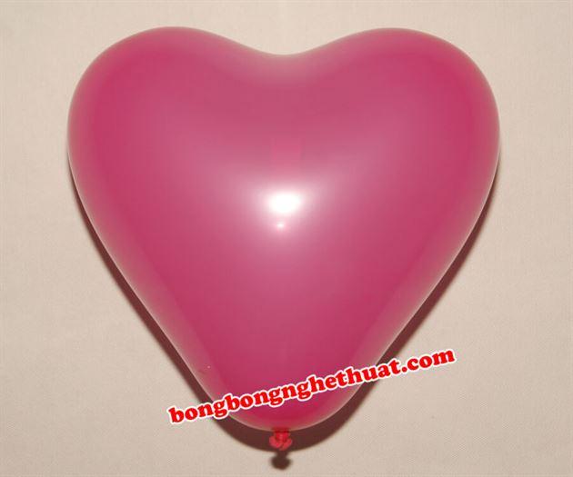 Bong Bóng Trái Tim màu hồng sen