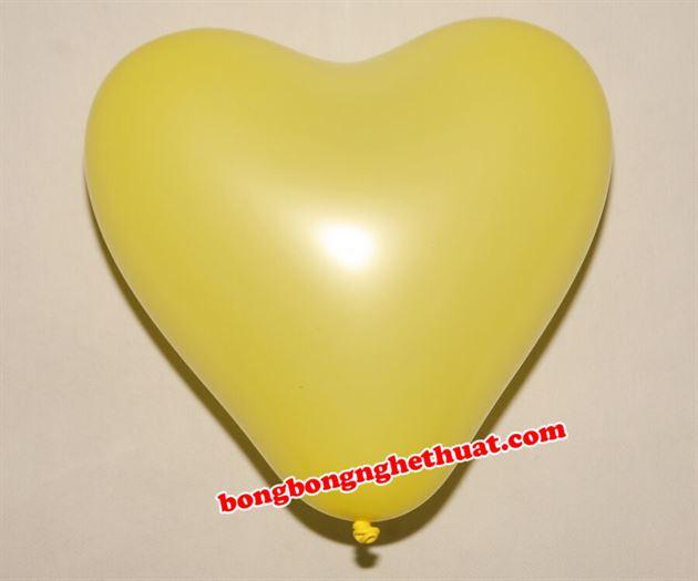 Bong Bóng Trái Tim màu vàng