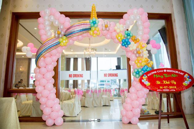 Cổng bong bóng nghệ thuật cho sinh nhật bé