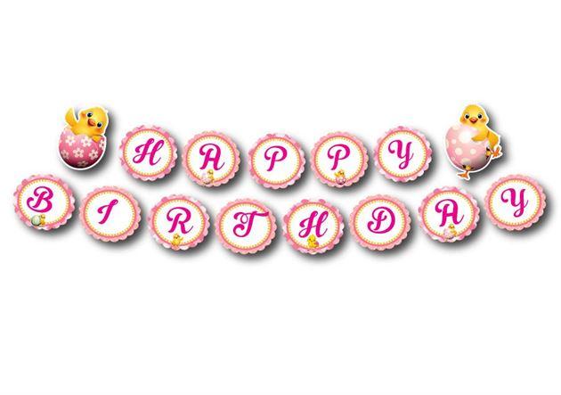 Tem dây chữ happy birthday bé gái tuổi gà