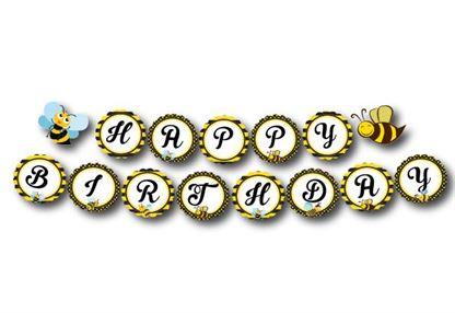 Tem dây chữ Happy Birthday bé Ong