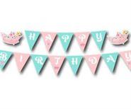 Tem dây chữ Happy Birthday Công Chúa