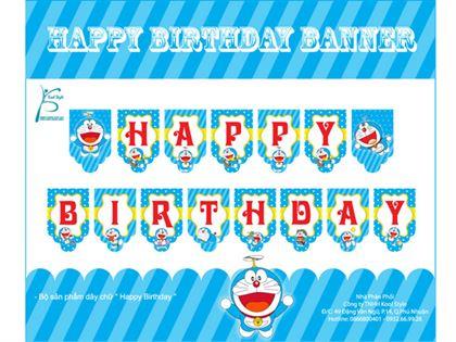 Dây chữ Happy Birthday Doraemon