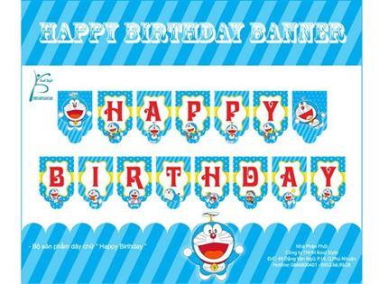 Dây chữ sinh nhật Doraemon